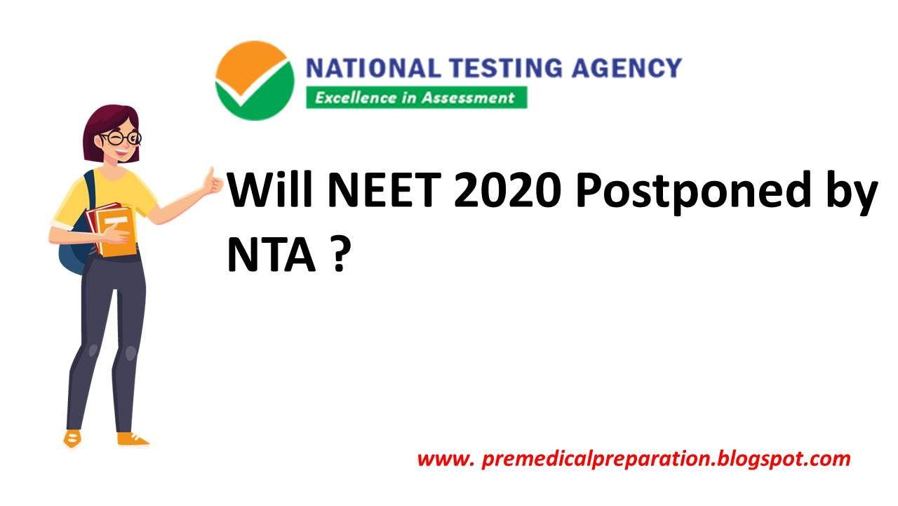 Will Neet 2020 Postponed By Nta In 2020 Board Exam Agency Exam