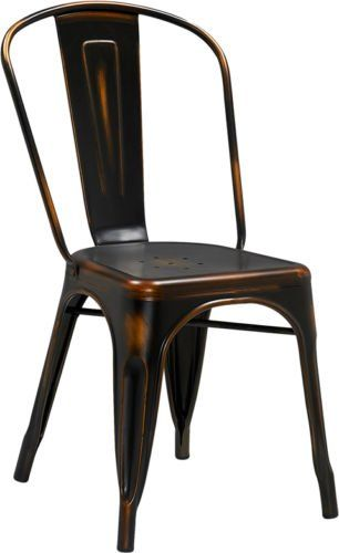 Charming (20 PACK) Industrial Style Antique Copper Metal Restaurant Chairs   Indoor  U0026 Outdoor Chair