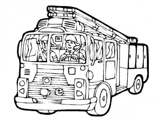 Printable Big Fire Truck Coloring Pages Firetruck Coloring Page