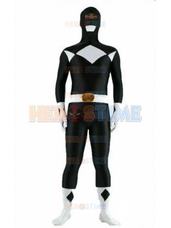 Black Zyuranger Power Ranger Spandex Superhero Costume