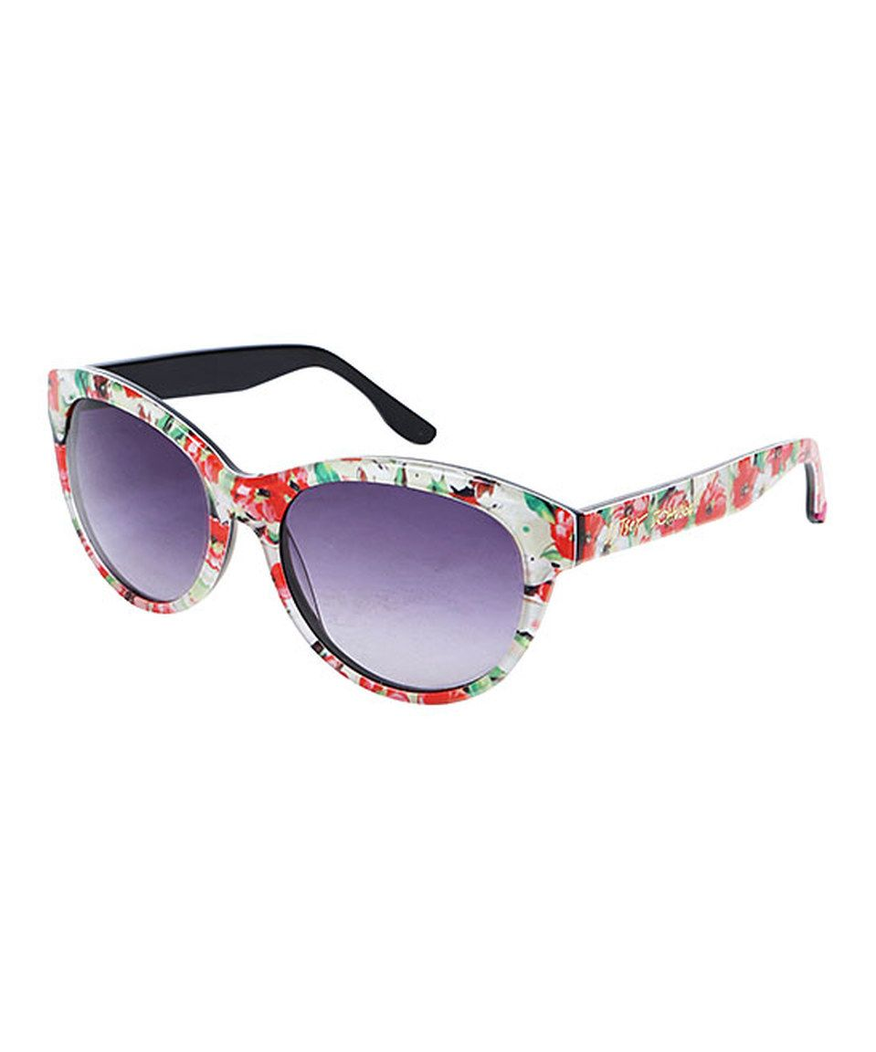 Betsey Johnson Floral Square Sunglasses by Betsey Johnson | Shades ...