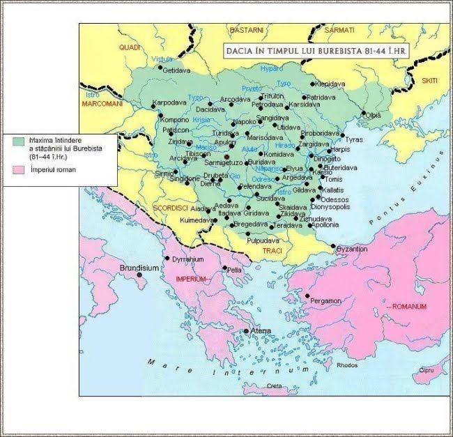 Dacia Burebita Roman Empire History Map
