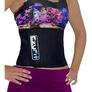 3cc9ff561c EzyFit Waist Trimmer - Premium Weight Loss Exercise Ab Belt - Back Posture  Support - Stomach Sweat Wrap - Strengthen Tummy   Burn Belly Fat -  Adjustable ...