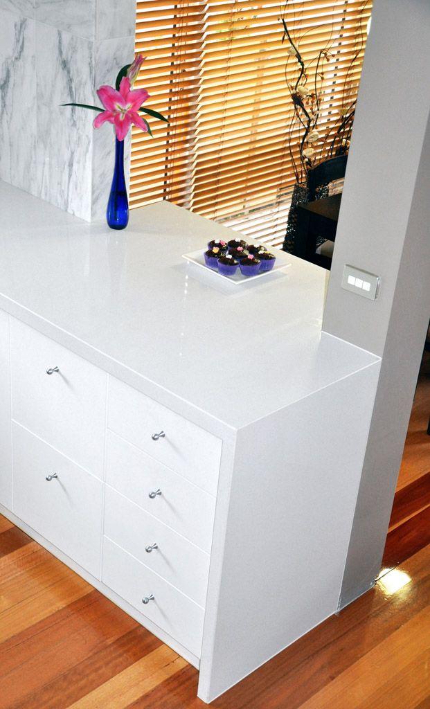 Caesarstone Australia Kitchen 3142 White Shimmer In 2019