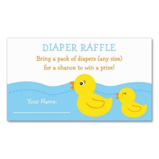 Rubber Duck Diaper Raffle Tickets Raffle tickets, Diaper raffle - free raffle templates