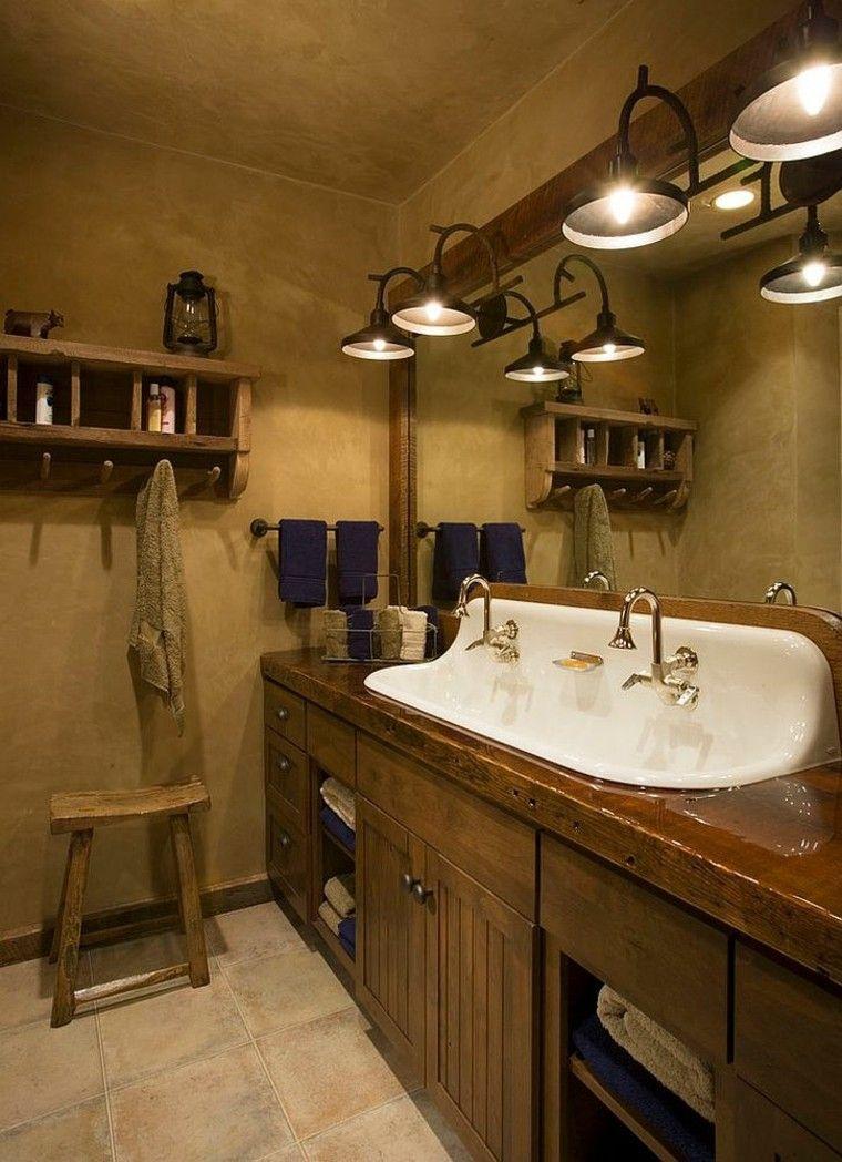 Entwerfen Sie Rustikale Badezimmer Und Kreativitat Mehr Als 50 Unglaubliche Ideen Badezimmer Rustikal Rustikale Bad Eitelkeiten Traditionelle Bader