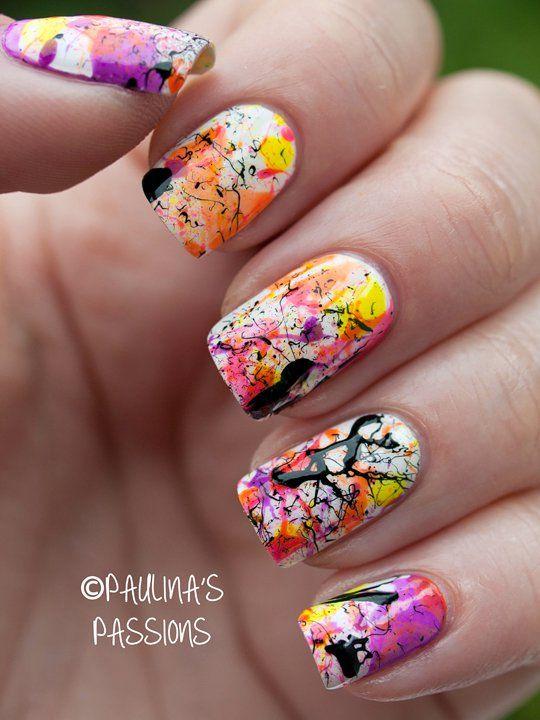 21 Trendy Nail Art Designs Splatter Nails Trendy Nail Art And
