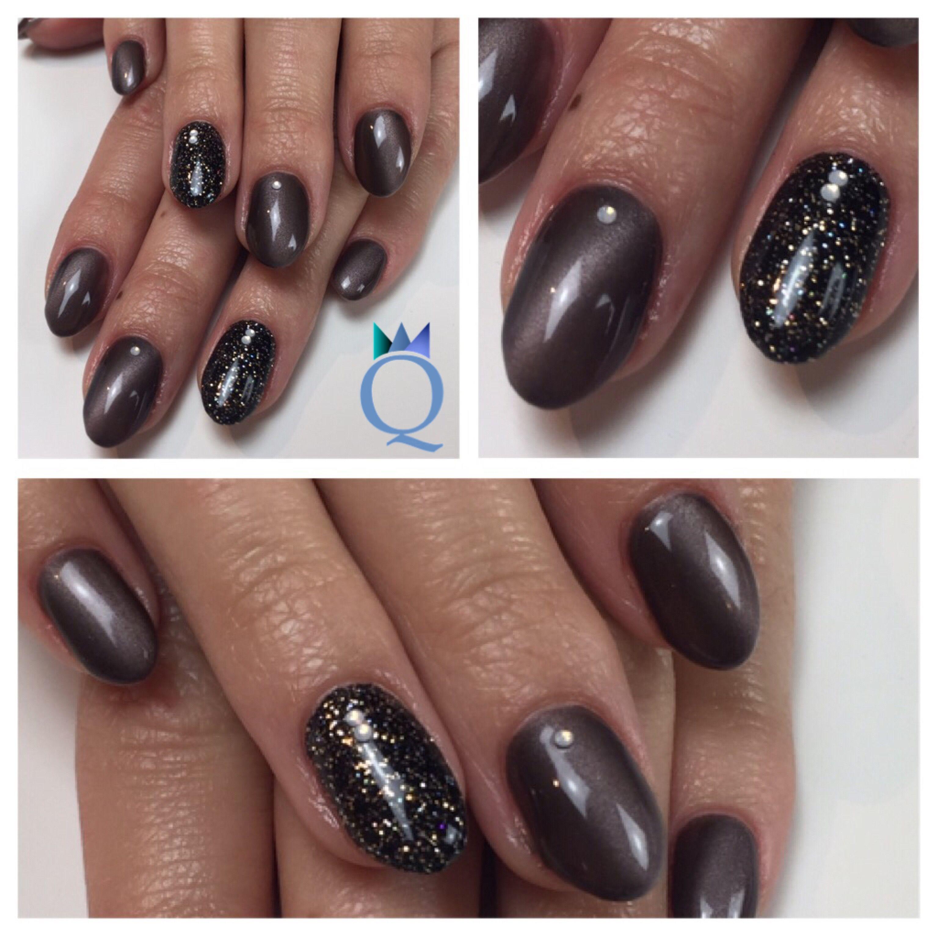 shortnails gelnails nails black glitter brown cateye akyado kurzen gel geln gel n gel. Black Bedroom Furniture Sets. Home Design Ideas