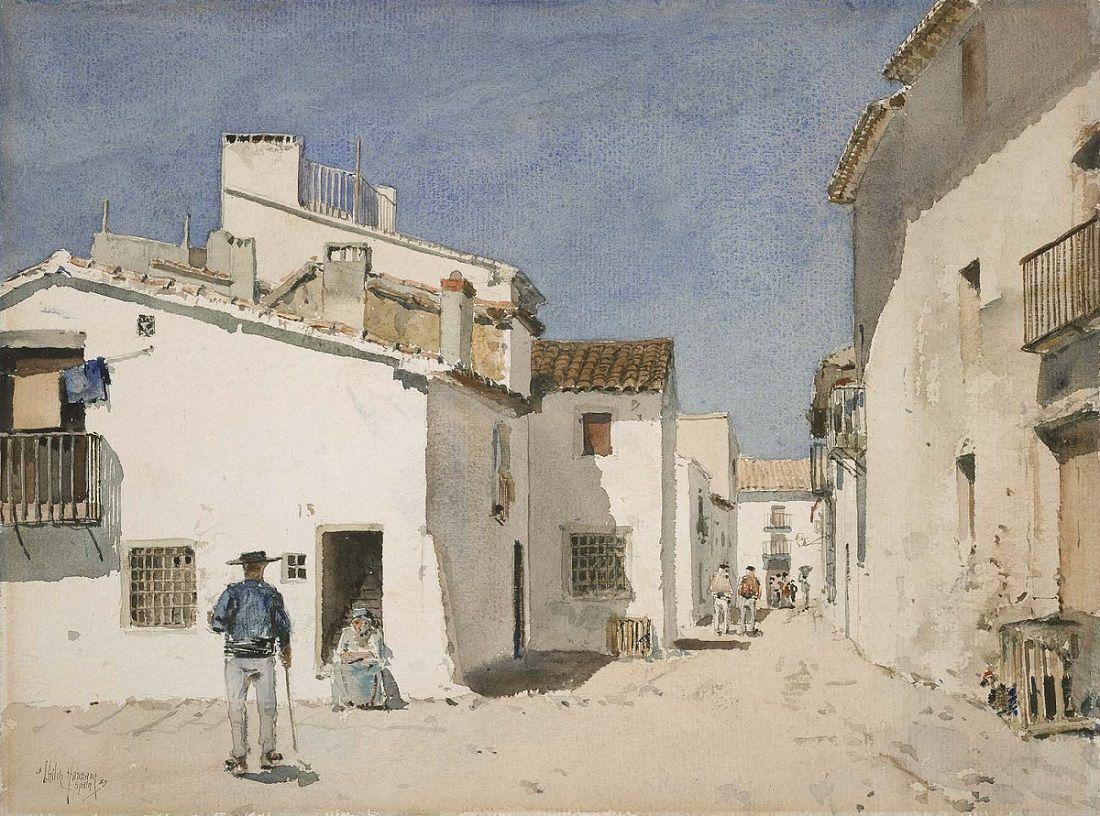 Childe Hassam - Spanish Street 1889