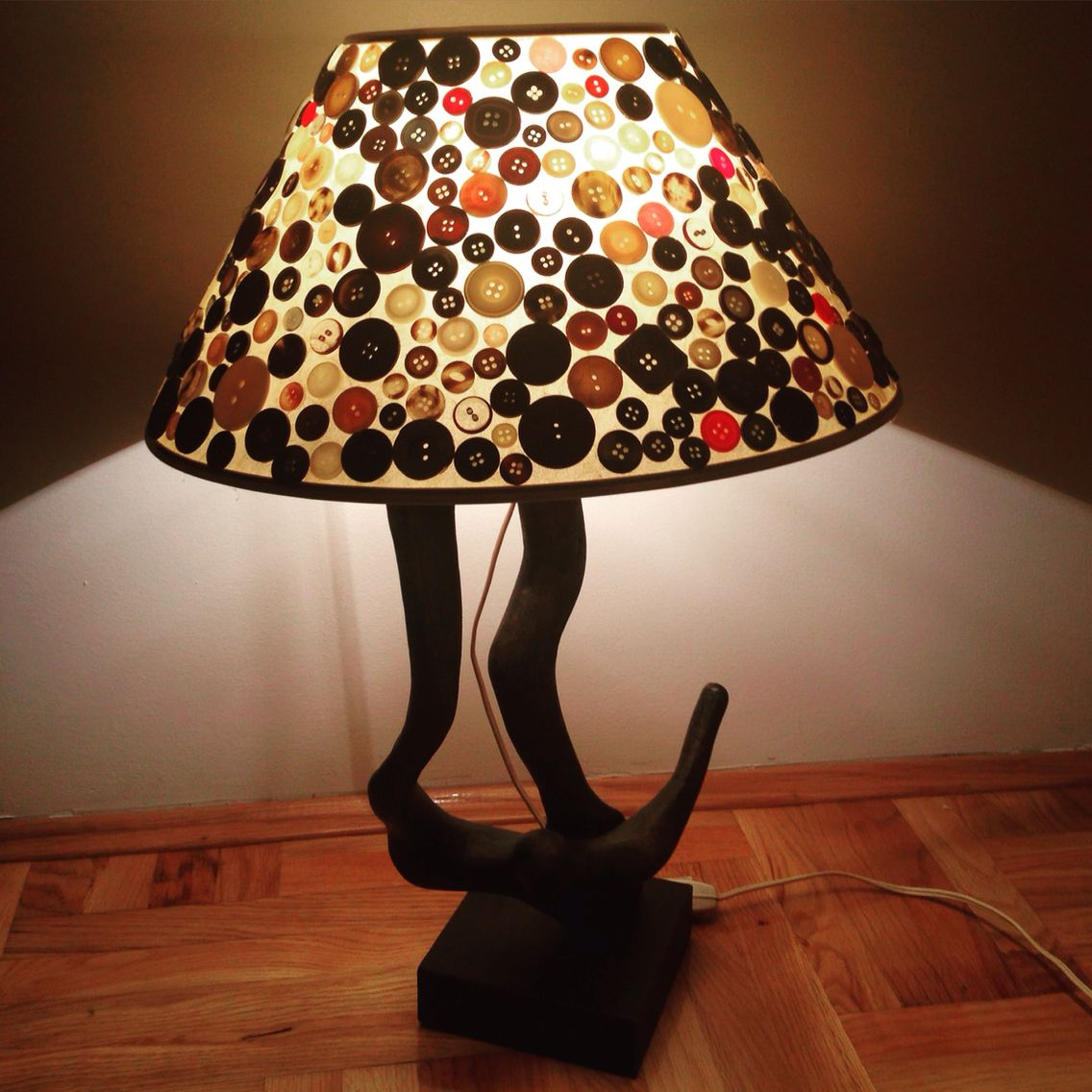 Lamp with buttons- home made