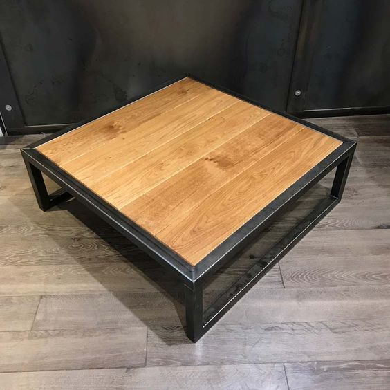 Chehoma Table Basse En Metal Et Bois Chehoma Table Basse Table Basse Bois Metal Table Basse Metal