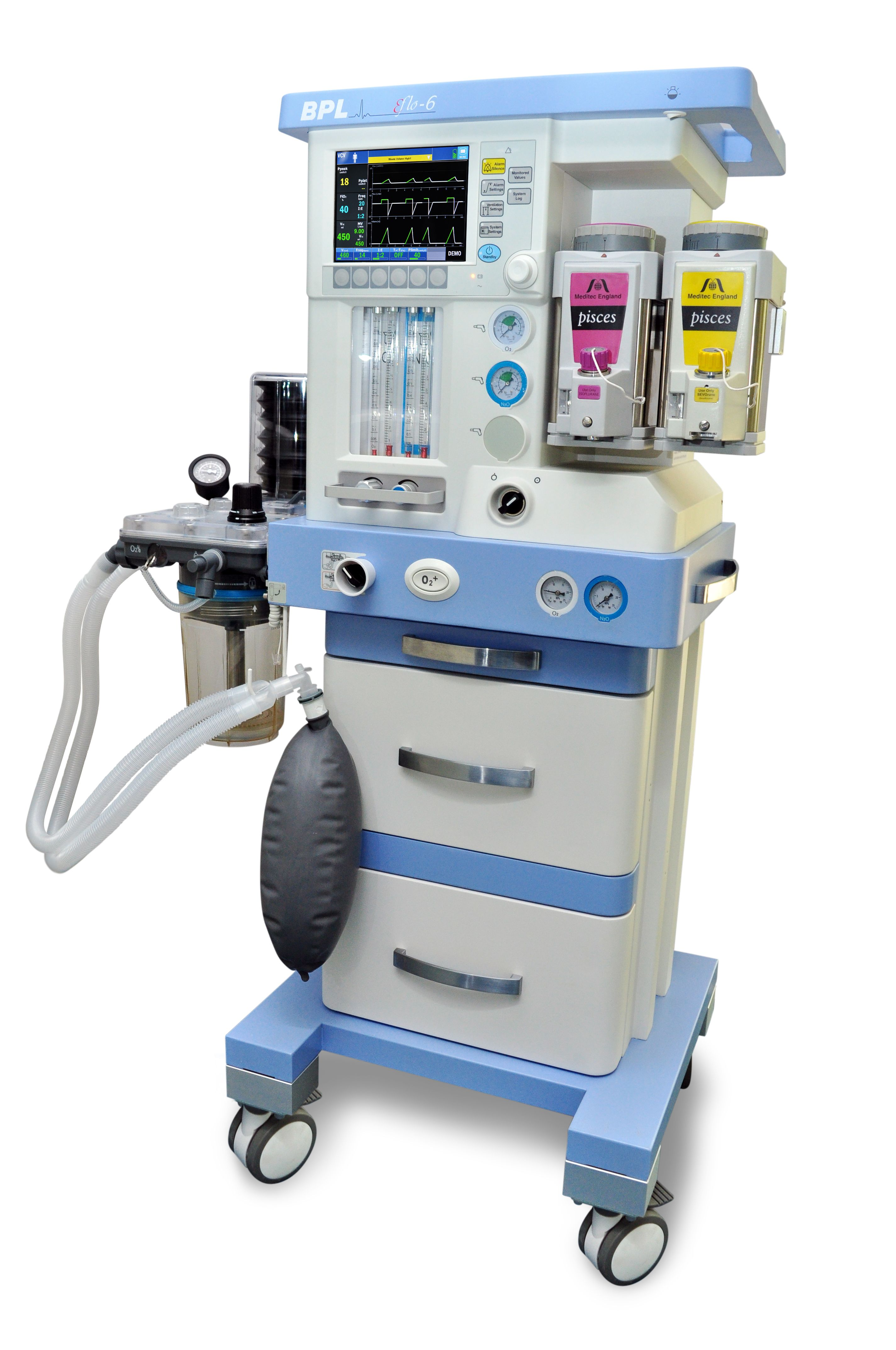 E Flo 6 Anesthesia Workstation From Bpl Medical Technologies Private Limited Has An Advanced Proportional Solenoid Medical Technology Workstation Critical Care
