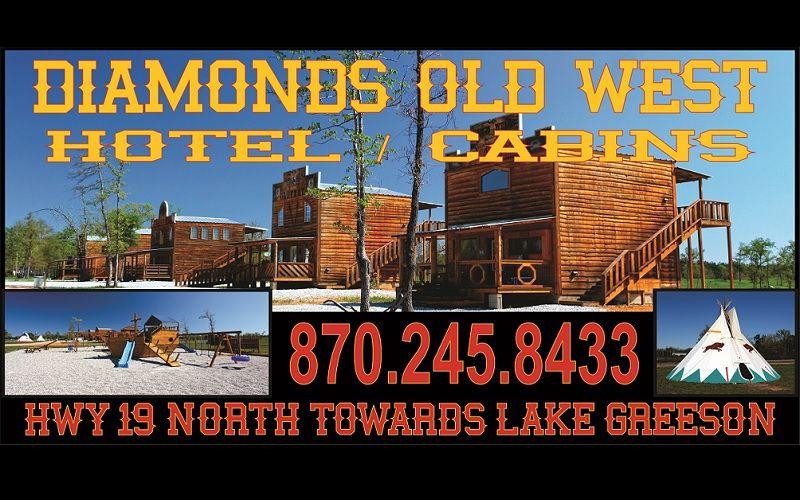 Diamonds Old West Cabins In Murfreesboro, AR