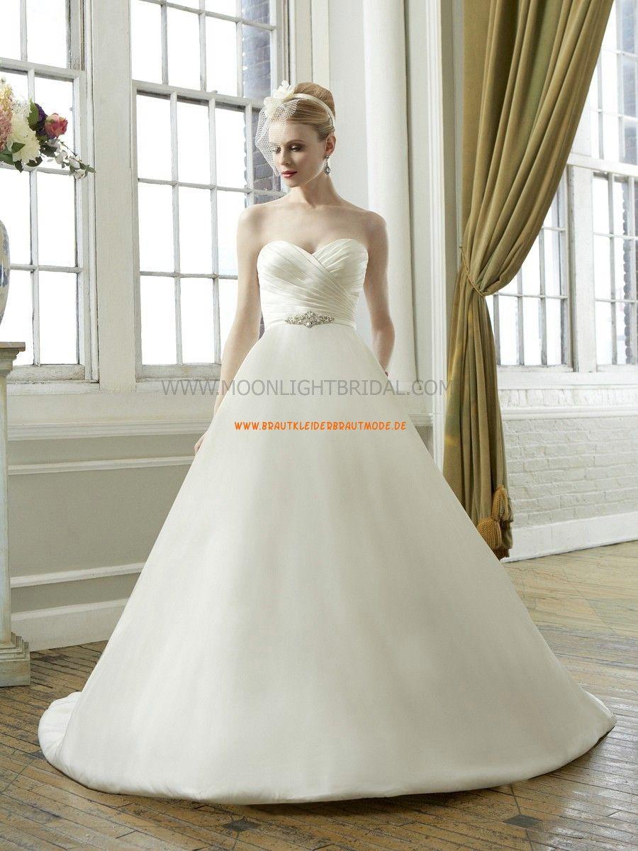 Moonlight A-linie Schöne Elegante Brautkleider aus Satin mit ...