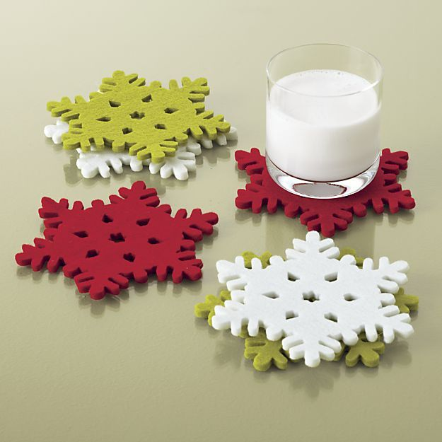 These soft, die-cut snowflake coasters are a pretty and practical hostess gift. Bonus: The winter theme means she can use them after the holiday is over. $6.95 for a set of 6, crateandbarrel.com  - GoodHousekeeping.com