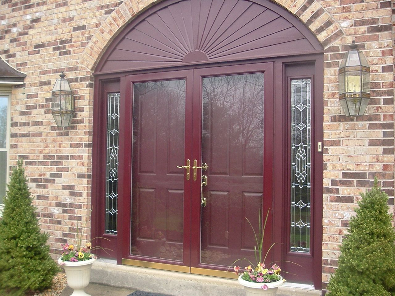 Tone On Tone Look With A Full Glass Door House Porch Pinterest