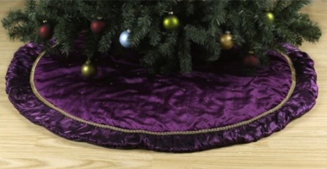 Purple christmas tree skirt   Pictures Reference