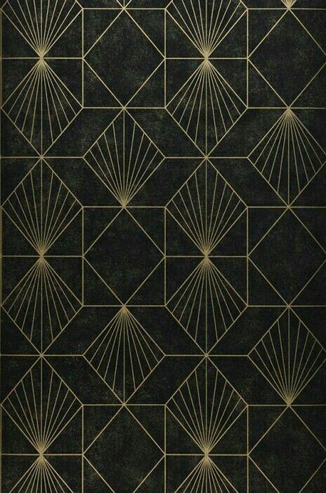 exceptional Art Deco Geometric Wallpaper Part - 16: Metallic Art Deco Geometric - unknown source