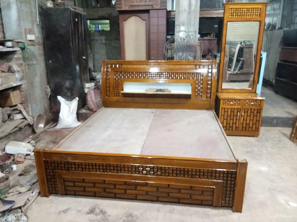 New The 10 Best Home Decor With Pictures New Bed Dressing Table Arrival Dm Or Call To Order Or Fo Wood Bed Design Wooden Bed Design Bed Furniture Design