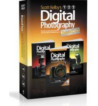 """This attractive boxed set includes: The Digital Photography Book (ISBN 0-321-47404-X) The Digital Photography Book, Volume 2 (ISBN 0-321-52476-4) The Digital Photography Book, Volume 3 (ISBN 0-321-61765-7) Scott Kelby, the man who changed the """"digital darkroom"""" forever with his groundbreaking, #1 bestselling, award-winning book The Photoshop Book for Digital Photographers, shows which button to push, which setting to use, when to use them, and hundreds of the most closely guarded…"""