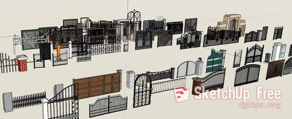 1505 Gates Sketchup Model Free Download Sketchup model