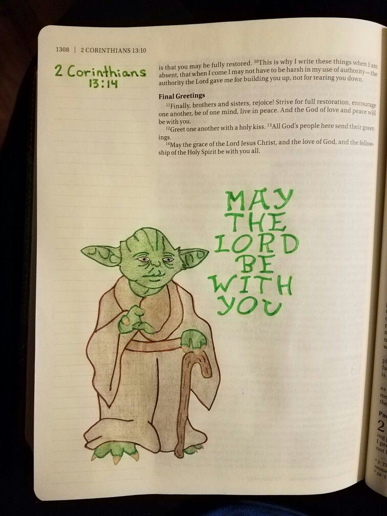Terra Ragan Bible Journal 2 Corinthians Yoda My Bible Journal