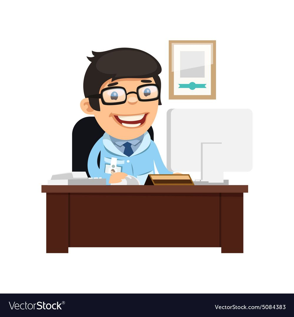 Head Physician At His Desk Royalty Free Vector Image Spon Desk Physician Head Royalty Ad Vector Free Vector Images Free Vector Images