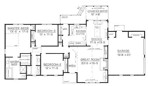 Best One Story House Plans | Victorian Style One Story House Plan