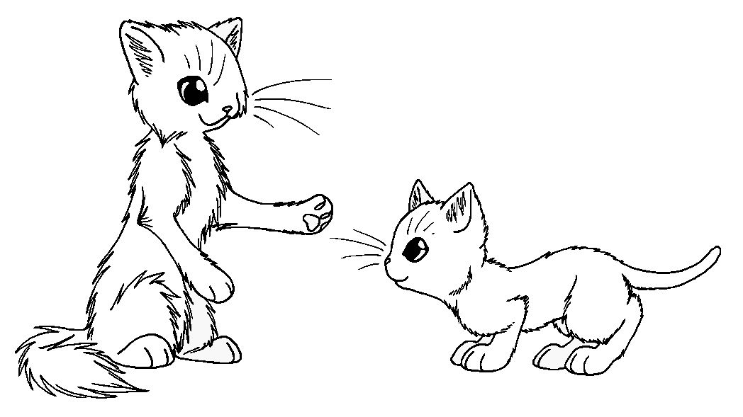 Apprentice And Mentor Cat Coloring Page Cat Colors Coloring Pages