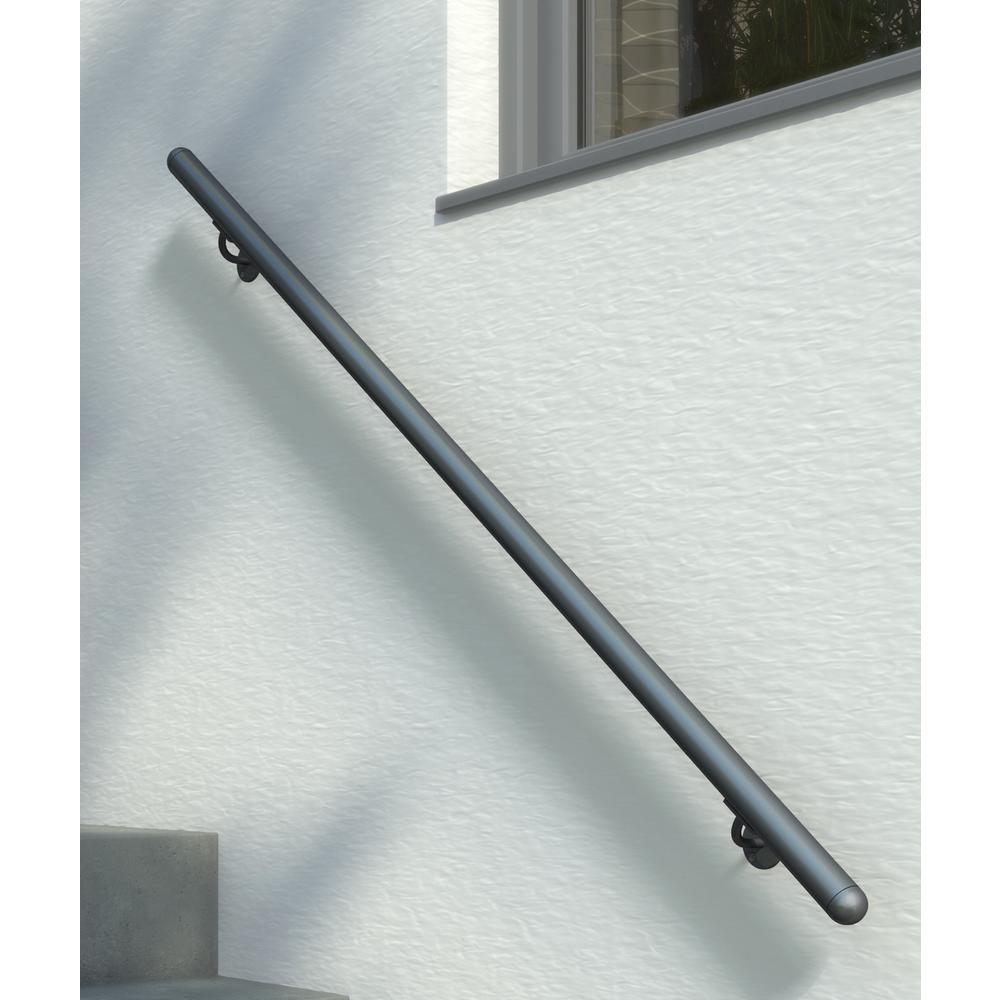 Best Dolle Prova Anthracite 79 In Long Handrail Kit In 2020 400 x 300