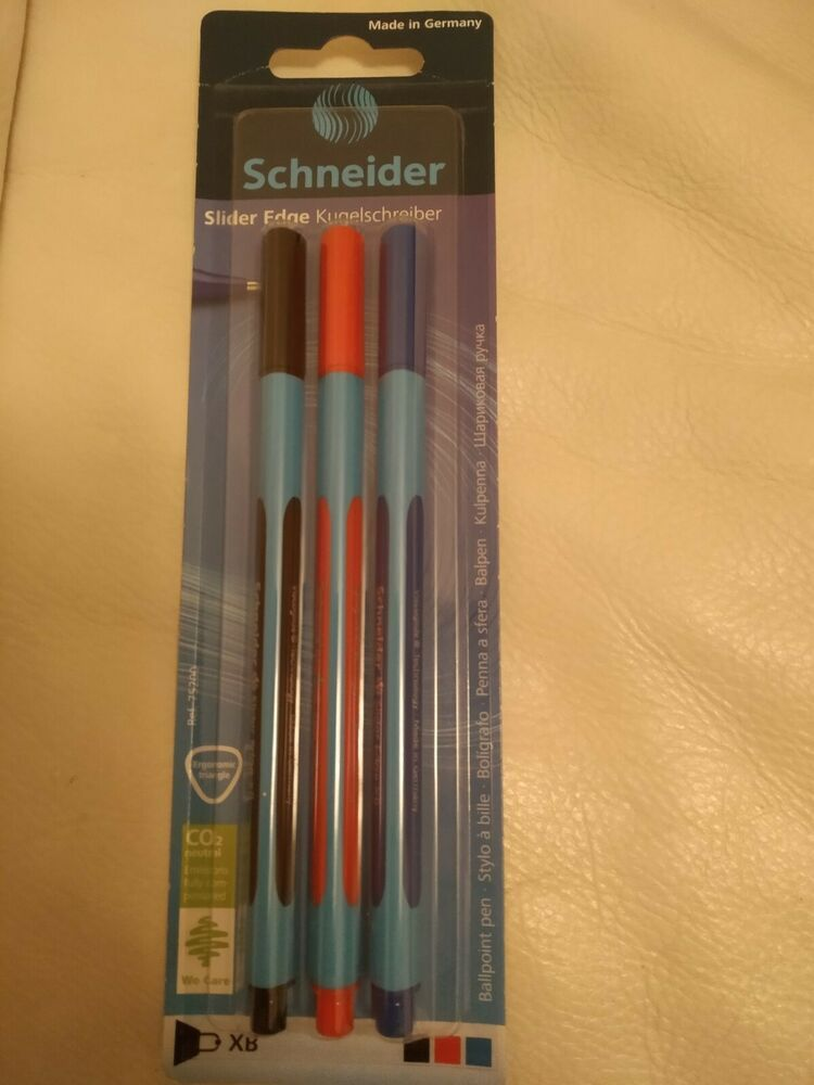 Orange XB Schneider Slider Edge Triangular-Barrel Viscoglide Ballpoint Pen
