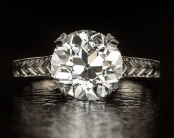 Ideal Cut 1.60ct Old European Cut Solitaire by IvyandRoseVintage