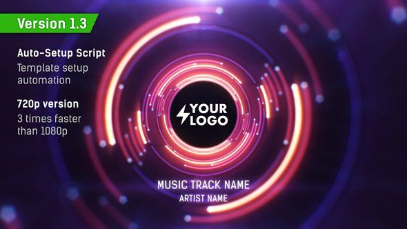 Audio React Tunnel Music Visualizer - After Effects Template
