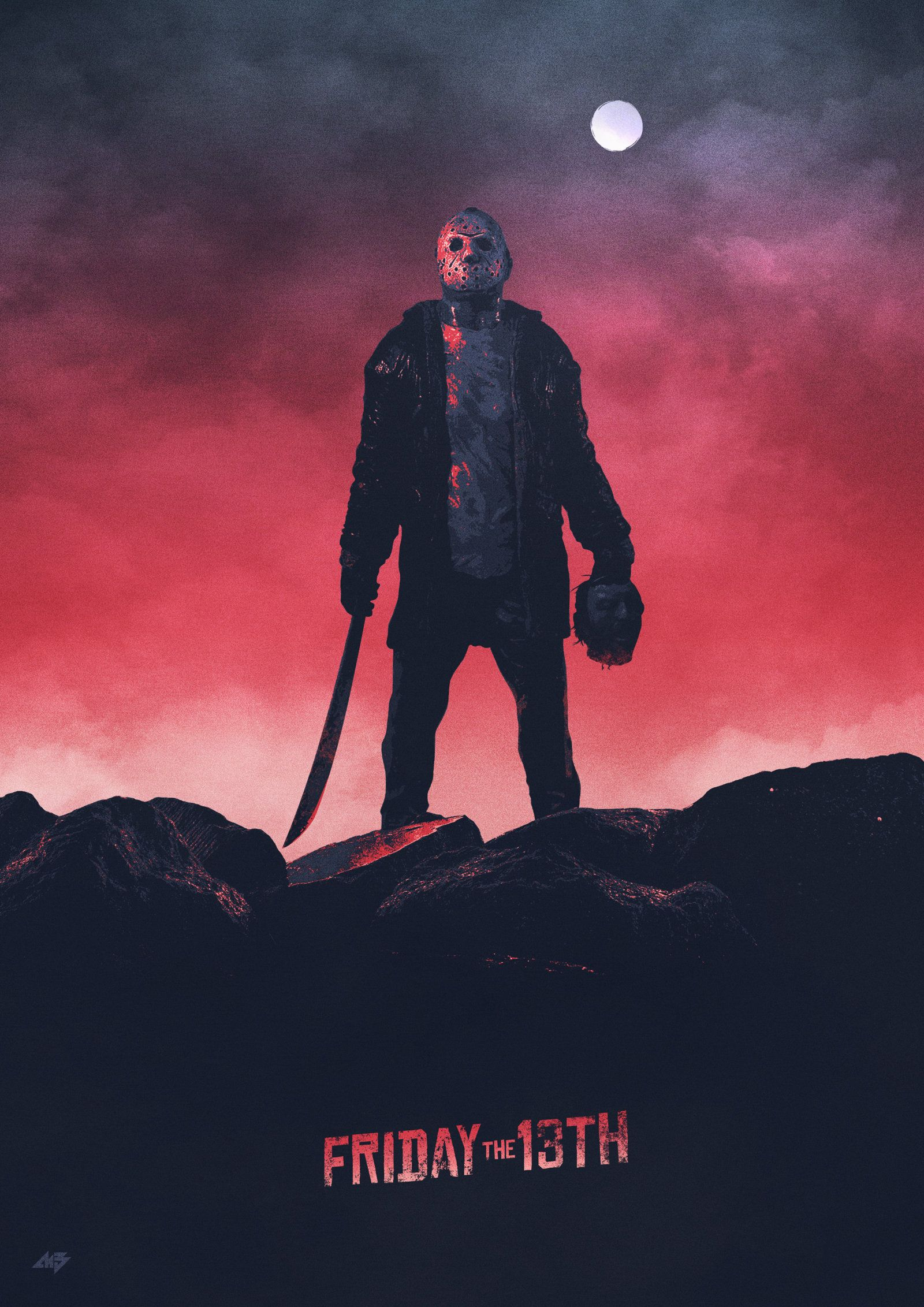 FRIDAY THE 13th Movie Poster Jason Voorhees Horror