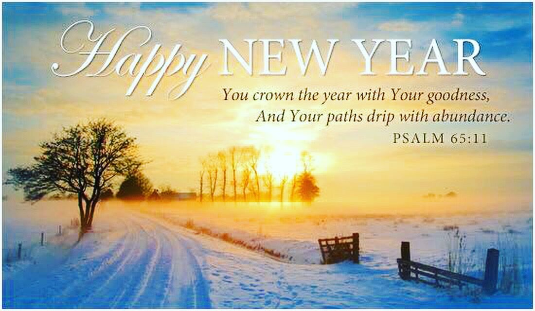 happynewyear psalm faith bible snow sunrise New