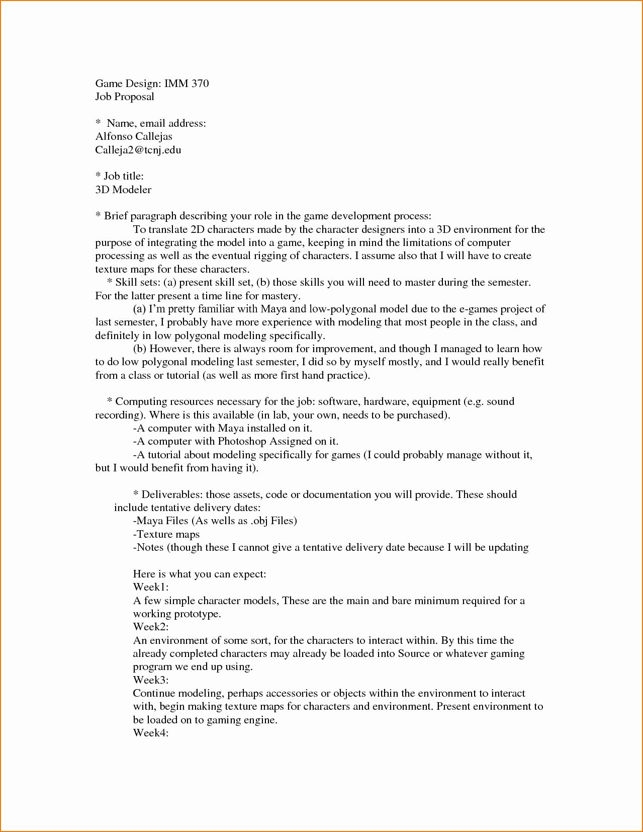 Template For Job Proposal In 2020 Proposal Templates Business