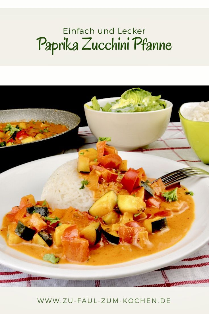 Paprika Zucchini Pfanne #vegetariandish
