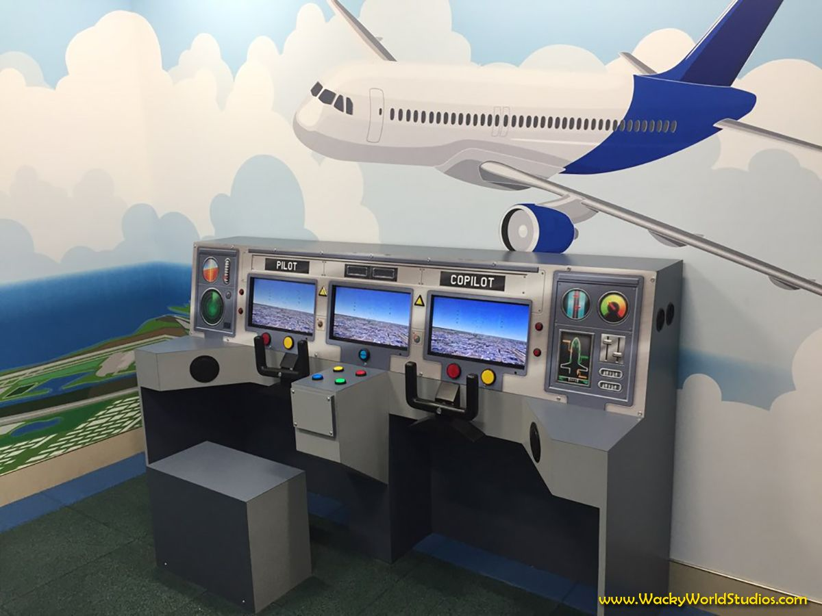 Children S Play Feature And Custom Wall Covering Created For St Pete Clearwater International Airport Get Your Own Themed Kids Play Area Kids Playing Theme
