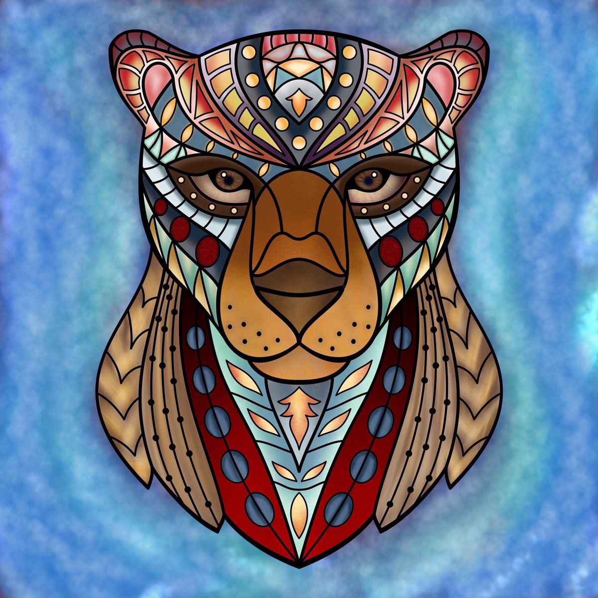 Great Eyes On This Lion Page Colored By Feyedryad Twitter Have You Tried The Pigment Coloring App Yet Its Best Adult For IPhone