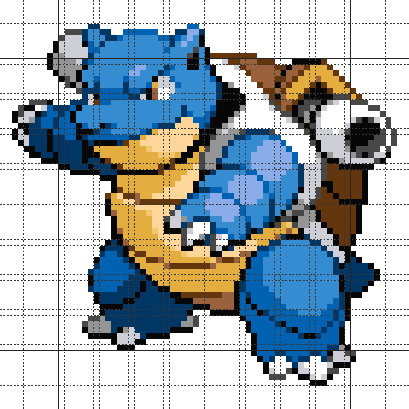 9 Blastoise | Pokemon Pixel Art | Pinterest | Pokémon, Hama beads ...