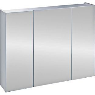 Triple Mirrored Bathroom Cabinet White From Homebase Co Uk