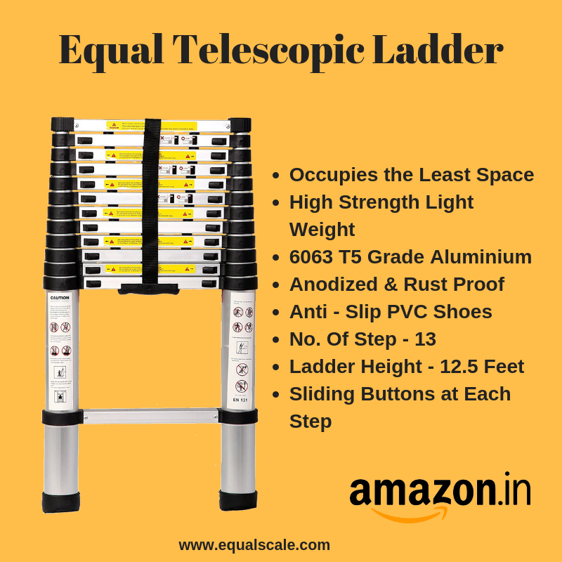 Equal Telescopic Ladder Buy Online Telescopic Ladder Aluminium Ladder Ladder