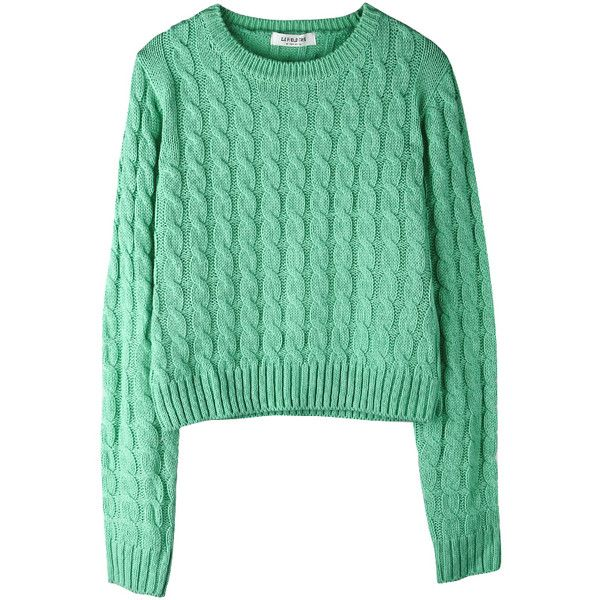 ALAND ❤ liked on Polyvore featuring tops, sweaters, clothing - ls tops and green top