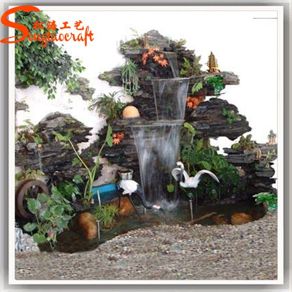 China Water Fountain Factory Indoor Artificial Waterfall Fountain .