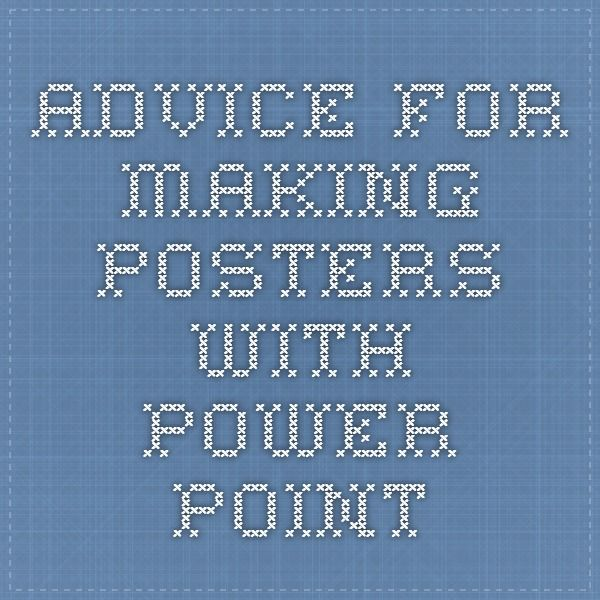 making a poster in power point