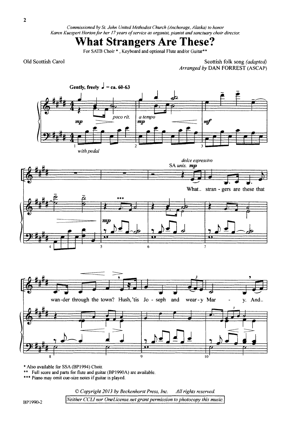 What Strangers Are These? (SATB ) by Dan For | J W  Pepper