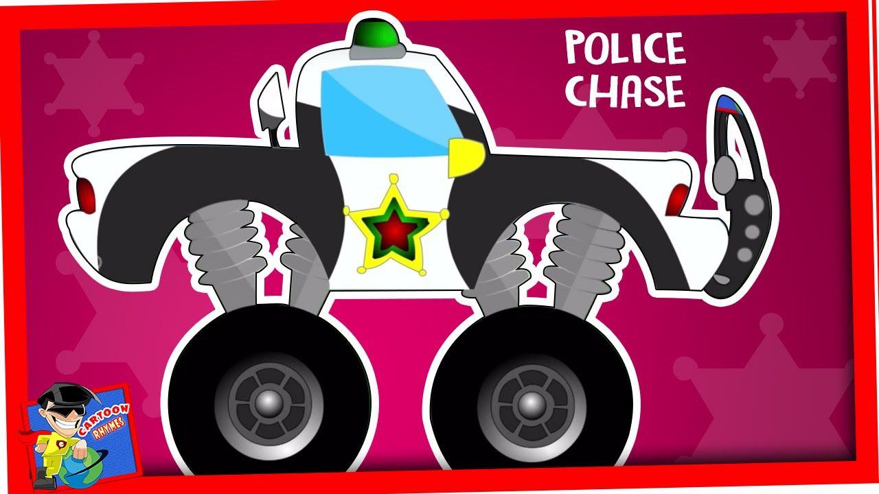 police car videos for children police chase wash cartoon for kids car