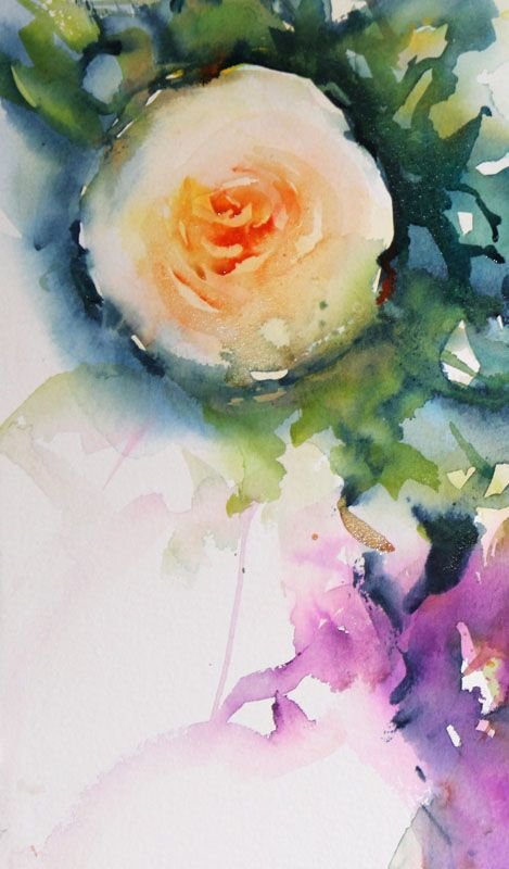 """Sweetly Scented""  Roses coming to life in watercolour"