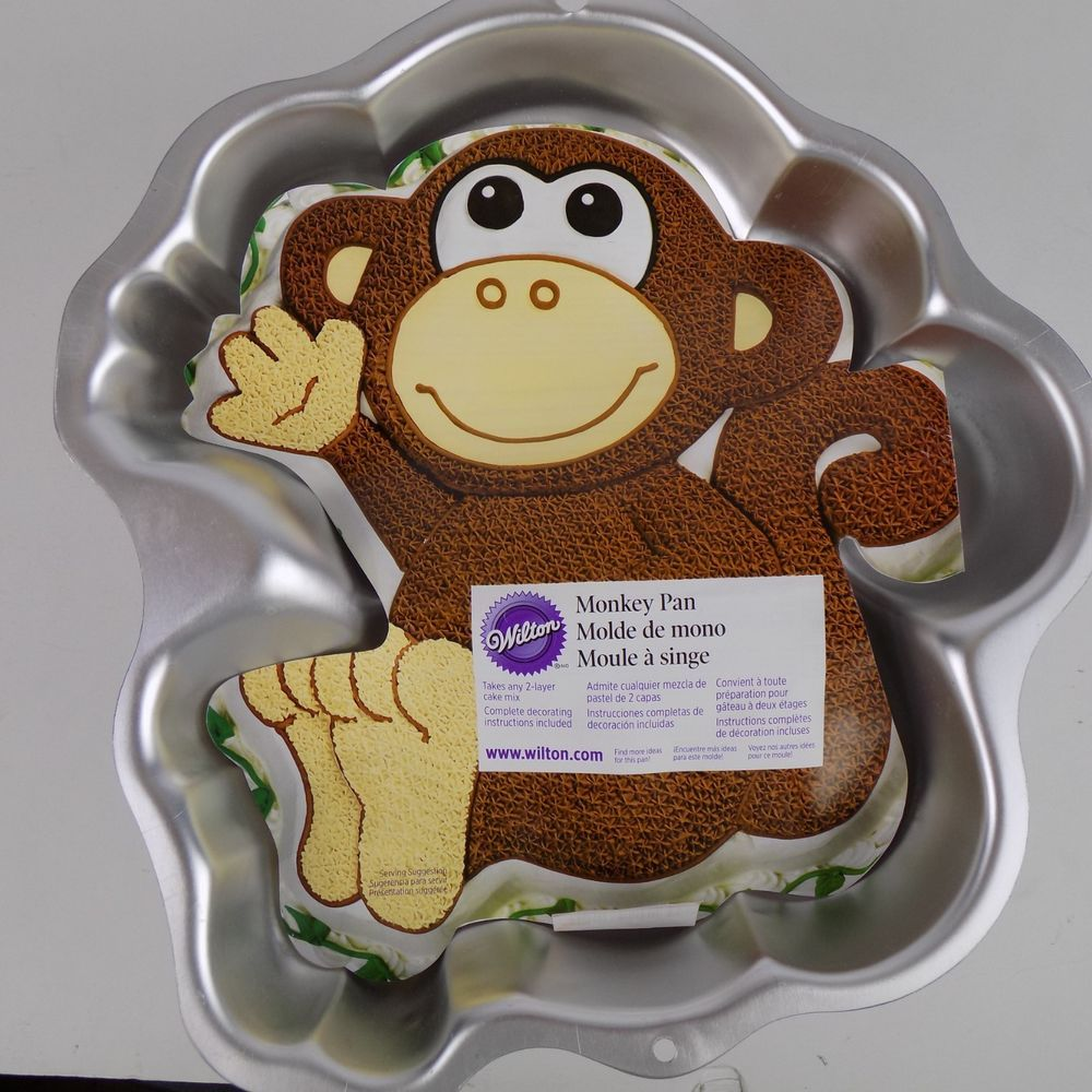 Wilton Monkey Cake Pan 2105 1023 Insert Included Zoo Animal