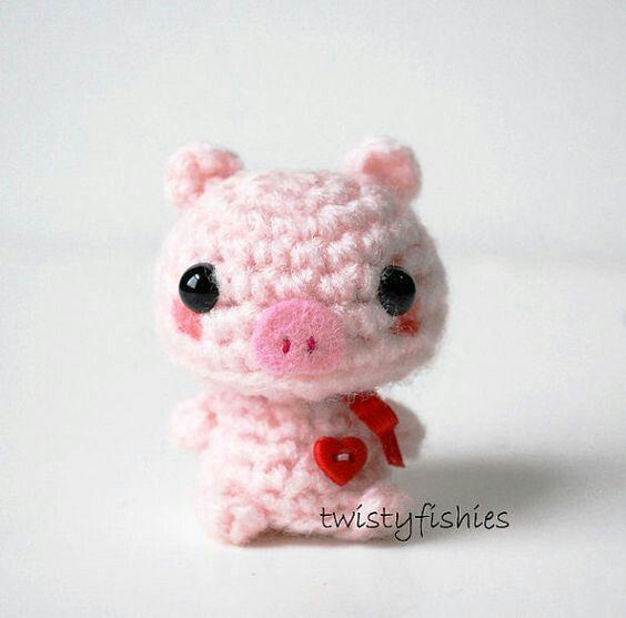 Hermoso Cerdito de crochet | Cerditos | Pinterest